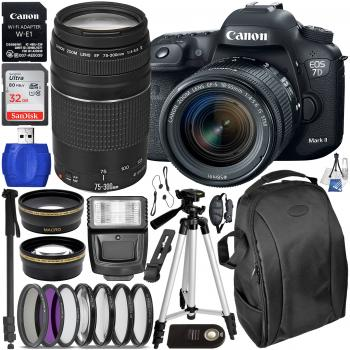 Canon EOS 7D Mark II DSLR Camera - 9128B002 with 18-55mm Lens - 1620C0