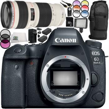 Canon EOS 6D Mark II DSLR Camera - 1897C002 with EF 70-200mm f/4L USM