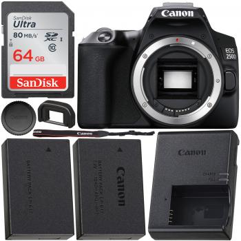 Canon EOS 250D (Rebel SL3) DSLR Camera (Body Only) & Starter Accessory