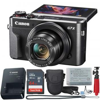 Canon PowerShot Digital Camera G7 X Mark II - 1066C001 Value Bundle