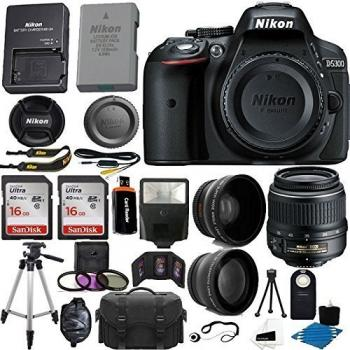Nikon D5300 Digital SLR Camera (Black) - 1519 with 18-55mm f/3.5-5.6G