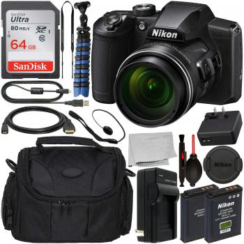 Nikon COOLPIX B600 Digital Camera (Black) - 26528 with Essential Acces
