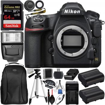 Nikon D850 DSLR Camera - 1585 Deluxe Accessory Bundle