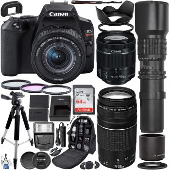 Canon EOS Rebel SL3 DSLR Camera with 18-55mm Lens - 3453C002 and 75-30
