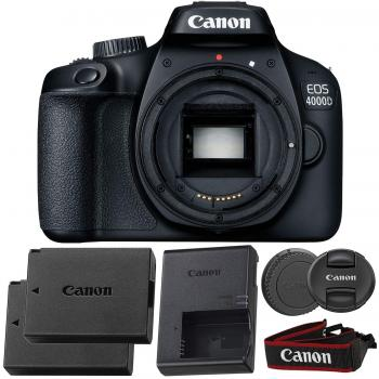 Canon EOS 4000D/Rebel T100 Body with Starter Accessory Bundle