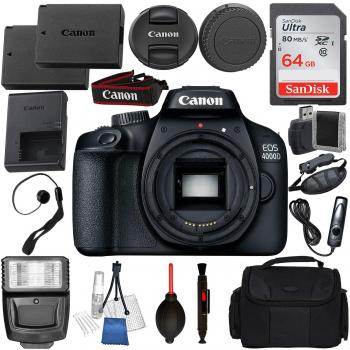 Canon EOS 4000D/Rebel T100 Body with Deluxe Accessory Bundle