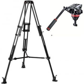 Manfrotto MVH502A Pro Video Head with 546B Aluminum Tripod Legs