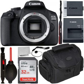 Canon EOS 2000D DSLR Camera (Body Only) with Starter Accessory Bundle