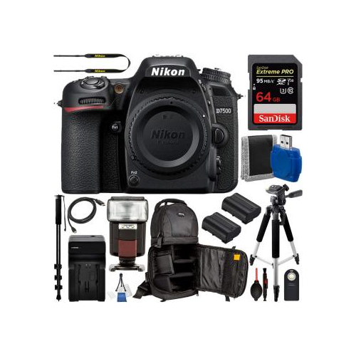 Nikon D7200 DSLR Camera (Body Only) - 1554 with Deluxe Bundle