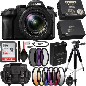 Panasonic Lumix DMC-FZ2500 Digital Camera with Essential Accessory Bun