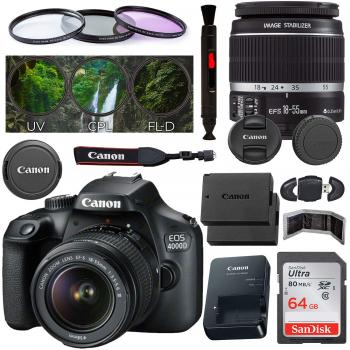 Canon EOS 4000D DSLR Camera with EF-S 18-55mm f/3.5-5.6 III Lens - 262
