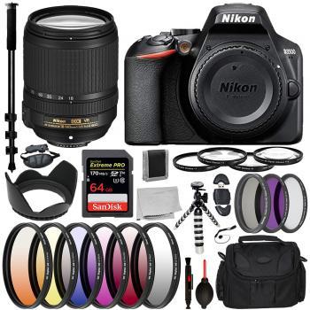 Nikon D3500 DSLR Camera - 1590B with Nikon AF-S DX NIKKOR 18-140mm f/3