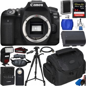Canon EOS 90D DSLR Camera (Body Only) - 3616C002 with Accessory Bundle