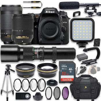 Nikon D7500 DSLR Camera - 1581 with 18-140mm - 2213 70-300mm - 20062 a