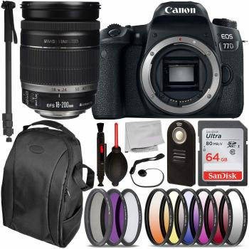 Canon EOS 77D DSLR Camera - 1892C001 with EF-S 18-200mm f/3.5-5.6 IS L