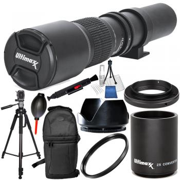 Ultimaxx 500mm F/8.0 Multi Coated High-Power Preset Telephoto Lens (fo