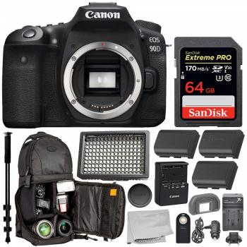 Canon EOS 90D DSLR Camera (Body Only) - 3616C002 with Essential Bundle