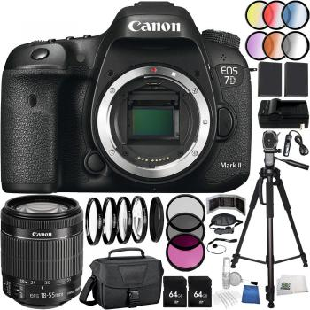 Canon EOS 7D Mark II DSLR Camera - 9128B126 with EF-S 18-55mm f/3.5-5.