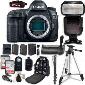 Canon EOS 5D Mark IV DSLR Camera (Body Only) - 1483C002 with Professio