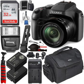 Panasonic Lumix DC-FZ80 - DC-FZ80K Digital Camera with Essential Acces