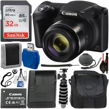 Canon PowerShot SX430 IS Digital Camera with Essential Accessory Bundl