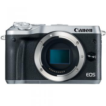 Canon EOS M6 Mirrorless Digital Camera (Body Only Silver)