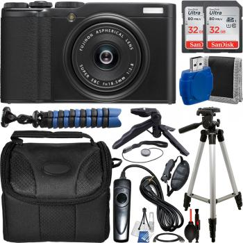 FujiFilm XF 10 Digital Camera (Black) - 16583224 with Accessory Bundle