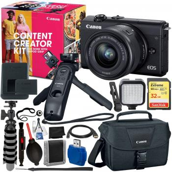 Canon EOS M200 Mirrorless Digital Camera Content Creator Kit - 3699C04