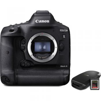 Canon EOS-1D X Mark III DSLR Camera with CFexpress Card and Reader Bun