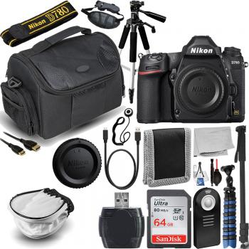 Nikon D780 DSLR Camera (Body Only) with Essential Accessory Bundle