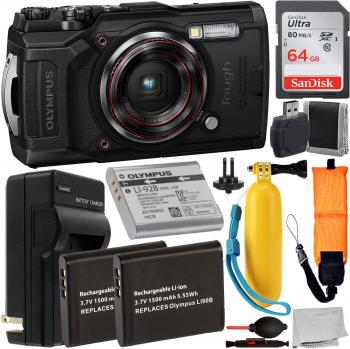 Olympus Tough TG-6 Digital Camera (Black) - V104210BU000 with Accessor