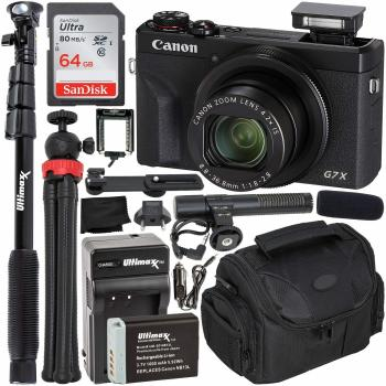 Canon PowerShot G7 X Mark III Digital Camera (Black) - 3637C001 Must-H
