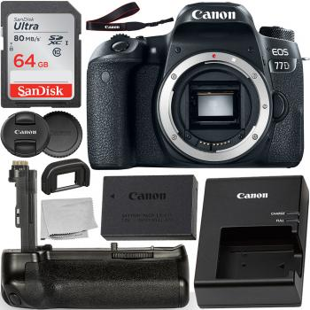 Canon EOS 77D DSLR Camera (Body Only) - 1892C001 with Pro Series Multi