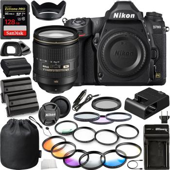 Nikon D780 DSLR Camera(Body Only) - 1618 with Nikon AF-S NIKKOR 24-120mm f/4G ED VR Zoom Lens - 2193 and 10pc Essentials Bundle