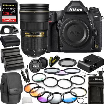 Nikon D780 DSLR Camera(Body Only) - 1618 with Nikon AF-S Nikkor 24-70mm f/2.8G ED Lens - 2164 & 10pc Accessory Bundle