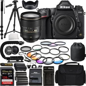 Nikon D780 DSLR Camera(Body Only) - 1618 with Nikon AF-S NIKKOR 24-120mm f/4G ED VR Zoom Lens - 2193 and Pro Accessory Bundle