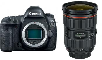 Canon EOS 5D Mark IV DSLR Camera with EF 24-70mm f/2.8L II USM Lens