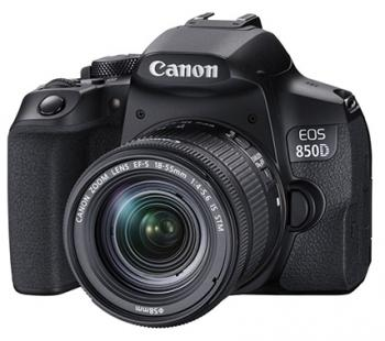 Canon EOS 850D 24.1 MP DSLR Camera - 4K - Black/Black - EF-S 18-55mm I
