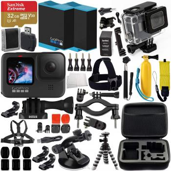 GoPro HERO9 Action Camera (Black) with Premium Accessory Bundle – In