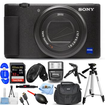 Sony ZV-1 Digital Camera (Black) Accessory Bundle