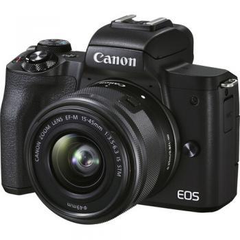 Canon EOS M50 Mark II Mirrorless Digital Camera with 15-45mm Lens (Bla