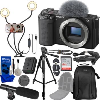 Sony ZV-E10 Mirrorless Camera (Body Only Black) Vlogging Bundle with S