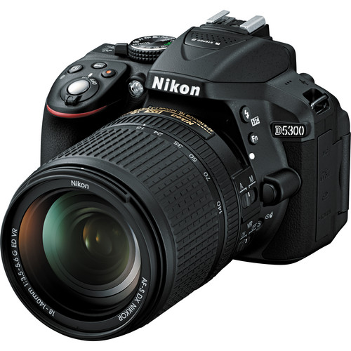 Nikon D5300 DSLR Camera with 18-140mm VR Lens (Black)