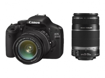 Canon EOS T2I/Kiss X4/ 550D with Canon EF-S 18-55mm IS and 55-250mm IS lenses