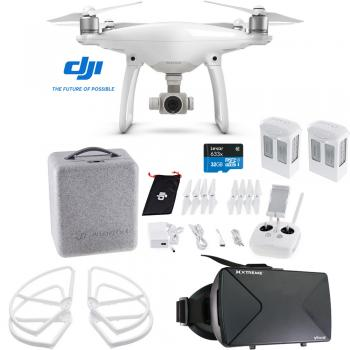 DJI Phantom 4 Drone + FPV Virtual Reality Experience Bundle