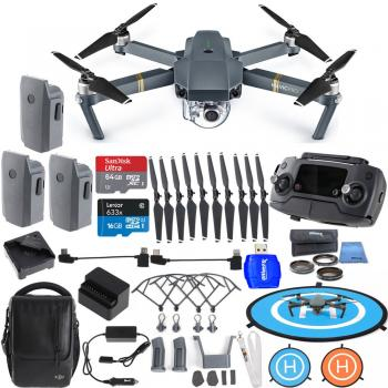 DJI Mavic Pro FLY MORE COMBO Collapsible Quadcopter Ultimate Bundle