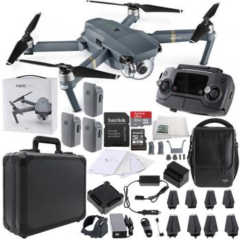 DJI Mavic Pro FLY MORE COMBO 4K Quadcopter Black Aluminum Bundle