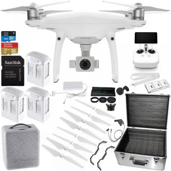 DJI Phantom 4 Pro+ Quadcopter with Accessory Bundle & Ultimaxx Aluminum Case