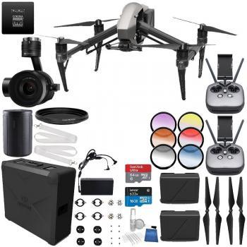 DJI Inspire 2 Premium Combo with Zenmuse X7 and CinemaDNG and Apple ProRes Licenses Filmmaker PRO Bundle