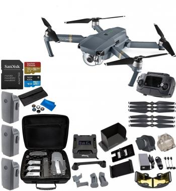 DJI Mavic Pro Collapsible Quadcopter 3-Battery Ultimate Bundle